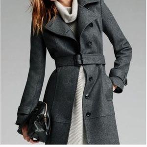 Banana Republic Charcoal Gray Wool Trench Coat.00P